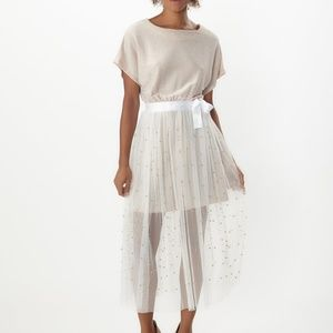 cab77d7abfdf Dresses & Skirts - Pearl Beaded Top with Lace Skirt Two-Piece Set